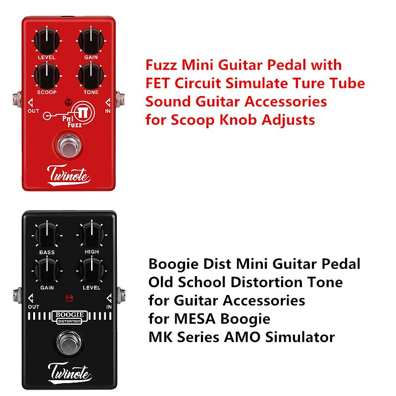 Fuzz Mini Guitar Pedal with FET Circuit Simulate Ture Tube Sound Guitar Accessories for Scoop Knob Adjusts Monoblock effect