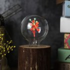 G80 Flame Lamp Glass Christmas Holiday Lights Bulb Night Light for Valentine Decor