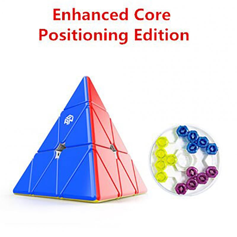 GAN Pyramid Magnetic 3x3 Magic Cube Speed Cube Puzzle Toys for Children Omnidirectional positioning