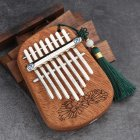GECKO 8 Keys Finger Kalimba Thumb Piano Portable Beginners Keyboard Marimba Wood Musical Instrument  Peach core [K-8CM]