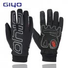 GIYO Man Winter Cycling Gloves Warm Fleece Full Finger Glove Bicycle Waterproof Windproof Motorcycle Gloves  ski gloves L