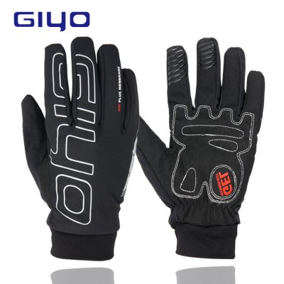 GIYO Man Winter Cycling Gloves Warm Fleece Full Finger Glove Bicycle Waterproof Windproof Motorcycle Gloves  ski gloves_XL