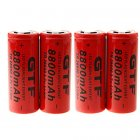 [US Direct] GTF 3.7V 26650 4200mAh Lithium Battery Red 1pcs