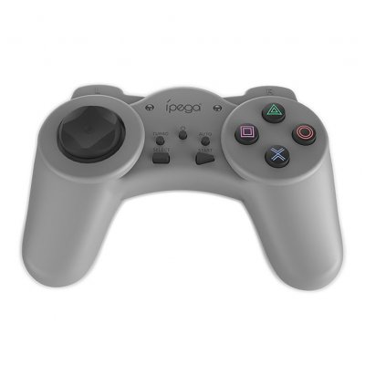 Game Controller PG-9122 PS Mini Game Console Handle with Turbo Combo Function Grey