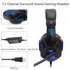 Gaming Headphone USB5.1 stereo game light headset Folding Headset for Gamer dark blue