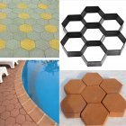Garden Stone Walk Maker Mould DIY Pavement Concrete Mold Driveway Paving Brick Patio Mold  G30x30