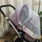 General Summer Baby Stroller Thickened Bracket Mosquito Net   Pink bracket_Trolley umbrella general