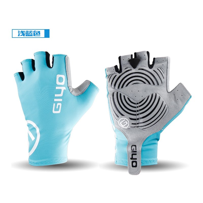Giyo Cycle Half -finger Gloves Bicycle Race Gloves Of Bicycle Mtb Road Glove Light blue_XL
