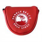 Golf Head Covers PU Waterproof Thicken   Magnetic Buckle Plush Golf Putter Cover Headcover red
