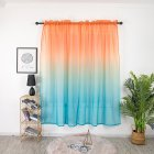 Gradient Color Window Curtain Tulle for Home Bedroom Living Room Kids Room Balcony  Orange yellow blue gradient_1 * 2 meters high