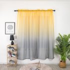 Gradient Color Window Curtain Tulle for Home Bedroom Living Room Kids Room Balcony  Yellow-gray gradient_1 * 2 meters high