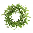 Green Simulate Olive Branch Shape Wreath for Party Decoration Photos Props 40CM