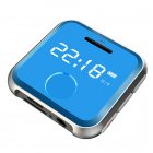 H-R300 0.9inch Screen Mini Metal Mp3 Player Entry-level Music Players with FM Radio Voice Recorder blue