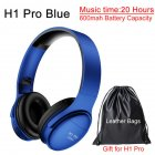 H1 Pro Bluetooth Wireless Headset HIFI Stereo Noise Reduction Gaming Earphone with Microphone H1 pro blue