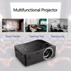 HD 1080P TFT LCD Home Mini Projector TV Multi Media Player Theater Home Cinema Video Projector