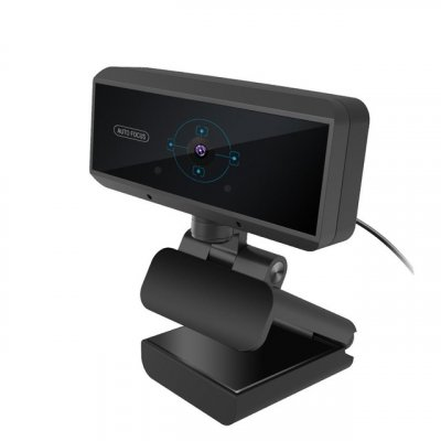 HD 1080P Webcam Built-in Microphone Auto Focus Web Camera for PC Laptop black