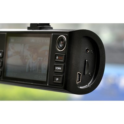"HD Dual Camera Car DVR ""Napravljat"" GPS Logger G Sensor Night Vision HDMI O"