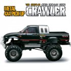 HG P407 1/10 2.4G 4WD Rally Rc Car for TOYATO Metal 4X4 Pickup Truck Rock Crawler RTR Toy  black