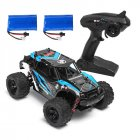 HS 18311/18312 1/18 40+MPH 2.4G 4CH 4WD High Speed Climber Crawler RC Car Toys blue_Double battery