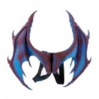 Halloween Carnival Kids Dress Up Toy Devil Wings for Children Blue purple foam single wing