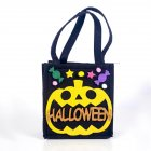 Halloween Decorations,Halloween Candy Felt Holder Bag, Cartoon Gift Hand Bag,Halloween Lovely Trick or Treating Bag A black
