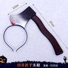 Halloween Headband Ghost Festival Kitchen Knife Shape Simulation Trick Headhoops Axe Shape