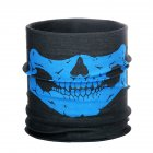 Halloween Props Mask Multi-function Seamless Headscarf Outdoor Sports Riding Mask Horror Skull Collar blue_One size