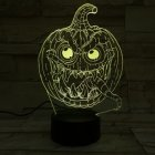 Halloween Pumpkins Shape USB Battery Powered 3D Atmosphere Night Light Halloween Pumpkin-3