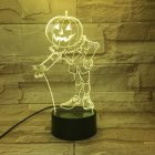 Halloween Pumpkins Shape USB Battery Powered 3D Atmosphere Night Light Halloween Pumpkin-4