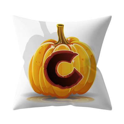 Halloween Series Letter Printing Throw Pillow Cover for Home Living Room Sofa Decor C_45*45cm