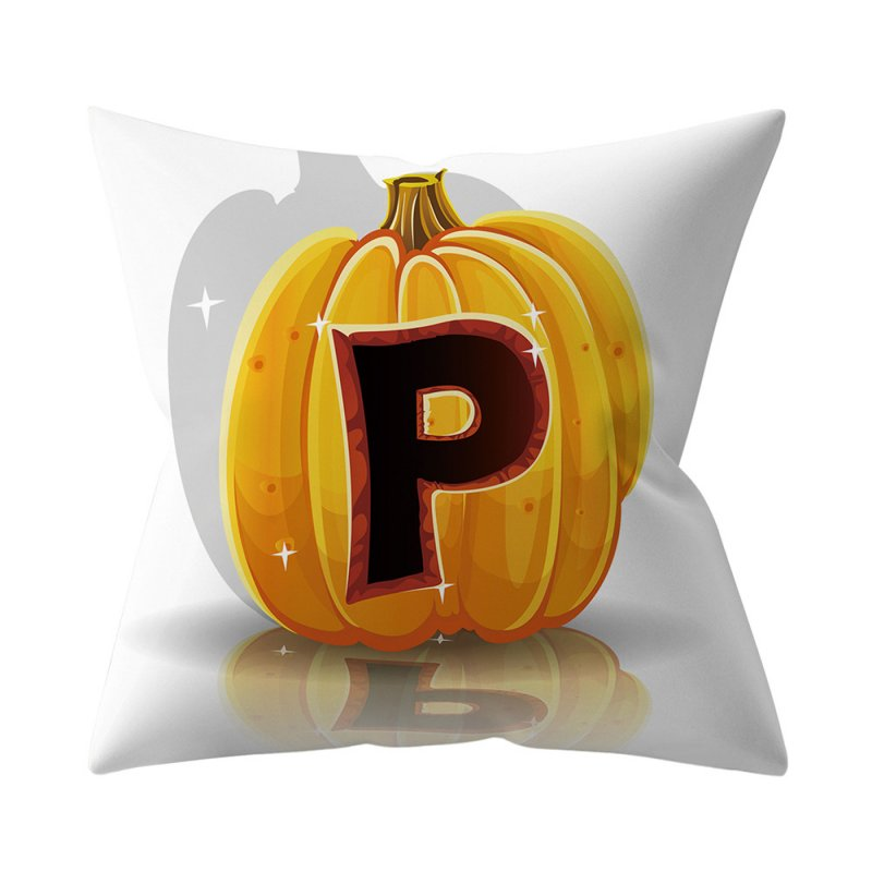 Halloween Series Letter Printing Throw Pillow Cover for Home Living Room Sofa Decor P_45*45cm