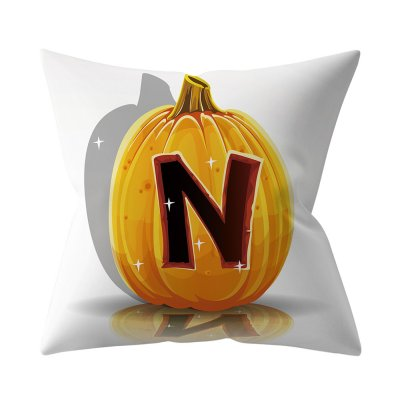 Halloween Series Letter Printing Throw Pillow Cover for Home Living Room Sofa Decor N_45*45cm