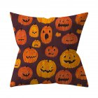 Halloween Series Pattern Throw Pillow Cover for Sofa Living Room Supplies 16#_45*45cm