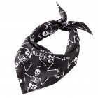 Halloween Series Printing Triangular Scarf for Pet Dogs Wear 04 black bone