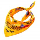 Halloween Series Printing Triangular Scarf for Pet Dogs Wear 02 yellow happy Halloween