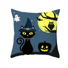 Halloween Series Pumpkin/Black Cat Printing Throw Pillow Cover Decor for Home Party TPR181-30_45*45cm (without pillow)