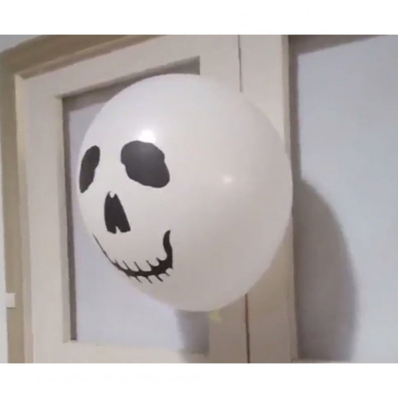 Halloween Skull Horror Spoof Balloon Ghost Festival Gauze Balloon Party Decoration Prop  Explosion-proof skull balloon (10pcs)
