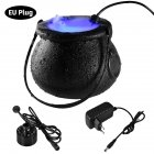 Halloween Witch Pot Smoke Machine LED Humidifier Color Changing Decor Halloween Party Toy colors_European plug