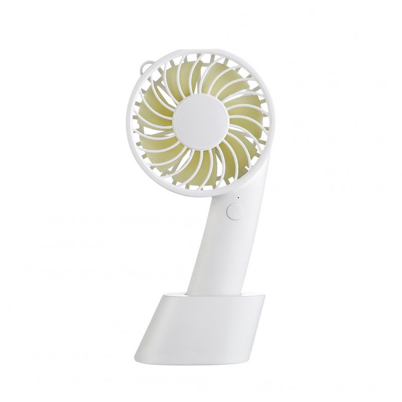 Handhold Fan Portable USB Handy Mini Fan Rechargeable Cooler Gifts white
