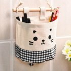 Hanging Storage Package Cute Pattern Single Pockets Storage Container Black plaid