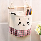 Hanging Storage Package Cute Pattern Single Pockets Storage Container Black red plaid