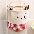 Hanging Storage Package Cute Pattern Single Pockets Storage Container Red  plaid