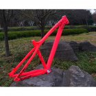 Hard Tail AM Mountain Bike Bicycle Frame h1 Bearing Quick Release Barrel Shaft  pink M quick release_Special size
