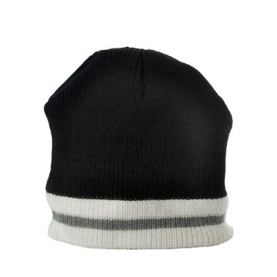 Beanie Hat with Headphones (Black + White)