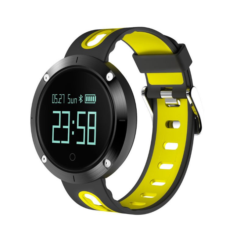 Heart Rate Blood Pressure Bracelet Waterproof Information Massage Reminder Bluetooth Smart Bracelet yellow