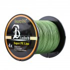 High Strength 500m/547yds 4braid Solid Color Braided Fish Line - Green 0.45mm-70lb