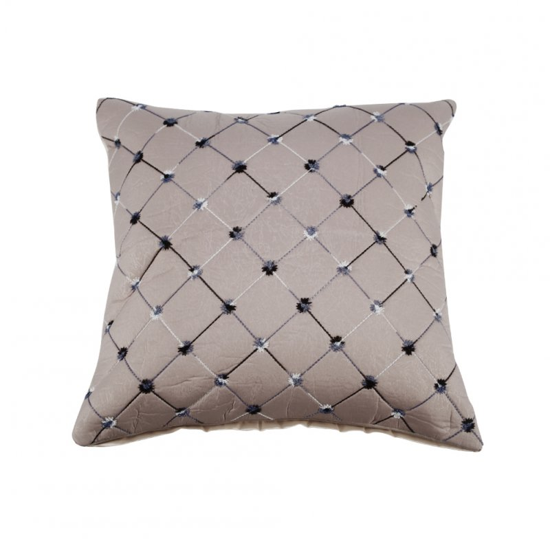 Home Plaids Throw Pillow Case Silver Gray