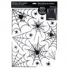Horror Halloween Spider Web Pattern Static Sticker for Party Window Galss Decor