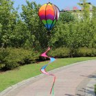 Hot Air Balloons Wind Spinner Striped Windsock Curlie Tail Colorful Kinetic Hanging Decoration Garden Yard Outdoor Toy  water chestnut