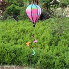 Hot Air Balloons Wind Spinner Striped Windsock Curlie Tail Colorful Kinetic Hanging Decoration Garden Yard Outdoor Toy  star